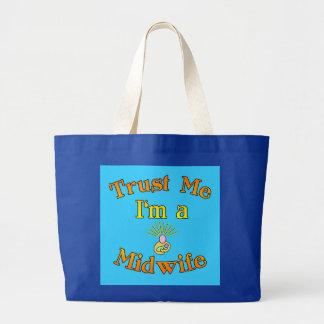 私が私助産婦プロダクトであることを信頼して下さい ラージトートバッグ