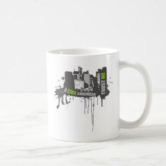 私が私土木技師のティー4であることを信頼して下さい コーヒーマグカップ