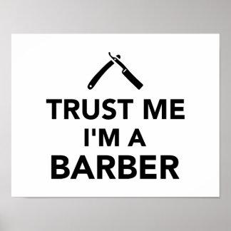 私が私理容師であることを信頼して下さい ポスター
