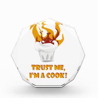 私が私調理師であることを信頼して下さい! 表彰盾