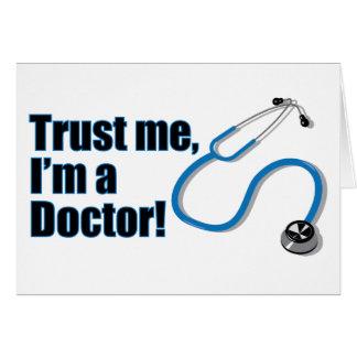 私が私Funny博士の挨拶状であることを信頼して下さい グリーティングカード