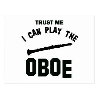 私が私OBOEを遊んでもいいことを信頼して下さい ポストカード