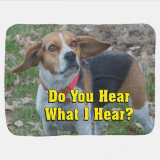 私が聞くものをおもしろい聞きますか。 ビーグル犬 ベビー ブランケット