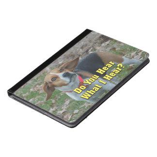 私が聞くものをおもしろい聞きますか。 ビーグル犬 iPad AIRケース