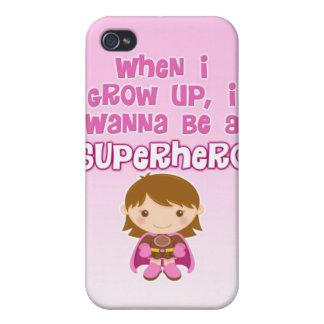私が育つとき、私はスーパーヒーローでありたいと思います iPhone 4/4S カバー