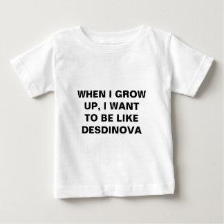 私が育つとき、私はDESDINOVAのようでありたいと思います ベビーTシャツ