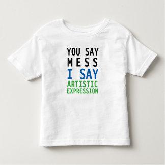 私が芸術的な表現を言う混乱を言います トドラーTシャツ