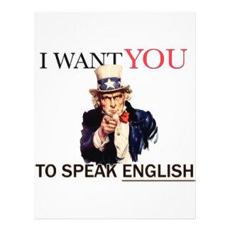 私が英語を話してほしいことを米国市民言いました チラシ