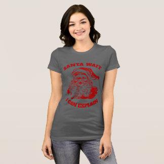 私が説明してもいいクリスマスのユーモアのサンタのおもしろいな待ち時間 Tシャツ