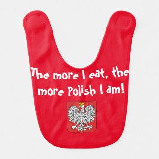 私が食べれば多くを、より多くの私によってが-ベビー用ビブであるポーランド人 ベビービブ