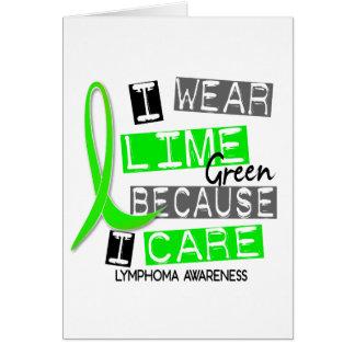 私が37を気にするのでリンパ腫Iの衣服のライムグリーン カード