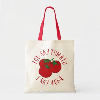 私が4664を言うトマトを言います トートバッグ