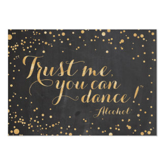 私が-印を結婚するアルコールを踊ってもいいことを信頼して下さい カード