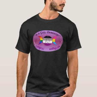 私がDemiの陽気なPansexual異教のなプライドであることをだれも知りません Tシャツ