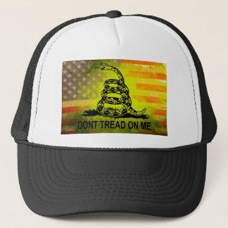 私でガズデンの旗の米国旗を踏まないで下さい キャップ