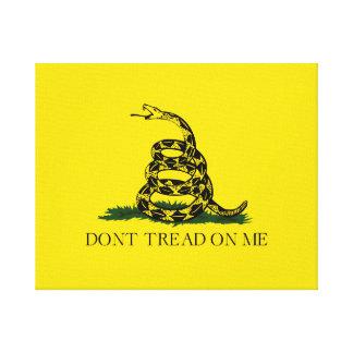 私でガズデンの米国旗を踏まないで下さい キャンバスプリント