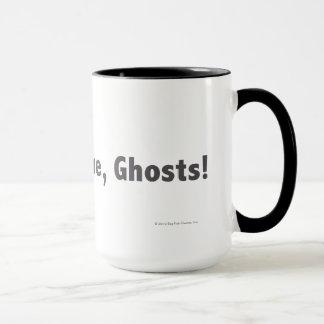 私で来られる、幽霊! 灰色 マグカップ