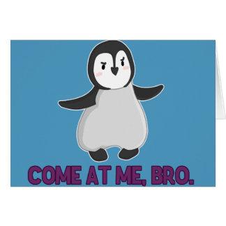 私で来られる、Broのペンギンカード グリーティングカード