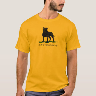 私で-擦り切れたまたはヴィンテージ- (犬)スタッフォードを踏まないで下さい Tシャツ