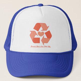私とのあなたの愛をトラック運転手の帽子リサイクルして下さい キャップ