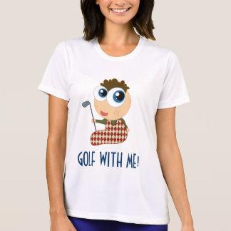 私とのかわいい女性ゴルフティー Tシャツ