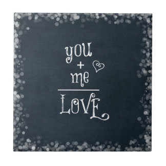 私と同輩黒板の引用文を愛します タイル