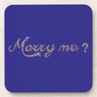 私と堅いプラスチックコースター結婚して下さい 飲み物コースター