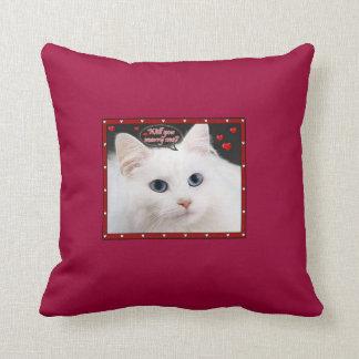 私と子猫の枕結婚して下さい クッション