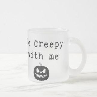 私と気色悪いが|ハロウィンのコーヒー・マグあって下さい フロストグラスマグカップ