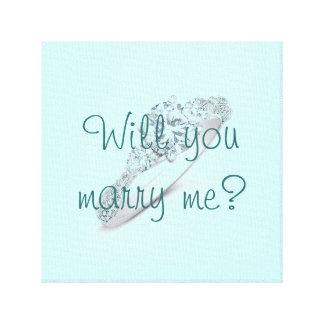 私と結婚しますか。 キャンバスプリント