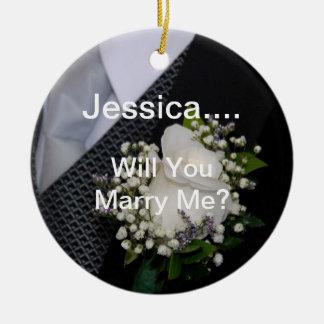 私と結婚します セラミックオーナメント
