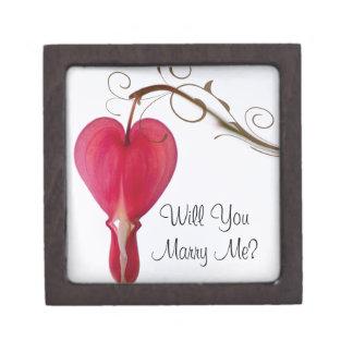 私と赤いハートの婚約指輪箱結婚します ギフトボックス