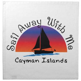 私と遠くにな帆ケーマン諸島。 ナプキンクロス