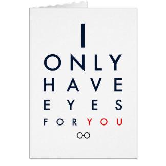 """""""私にあなたのための目だけが""""バレンタインデーカードあります カード"""