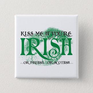私にあなたはアイルランド語…接吻して下さい 5.1CM 正方形バッジ