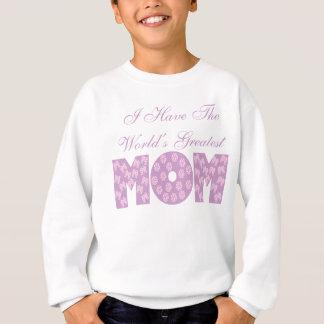 (私にあります)世界ですばらしいお母さん-白 スウェットシャツ