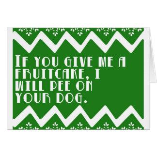 私におもしろいなFruitcakeを…与えたら設計して下さい カード
