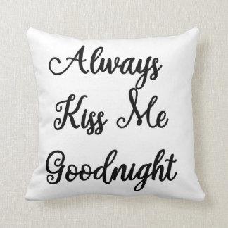 私におやすみなさいの枕常に接吻して下さい クッション