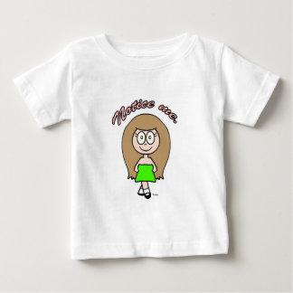 私にかわいい女の子の茶色のブルネット気づいて下さい ベビーTシャツ