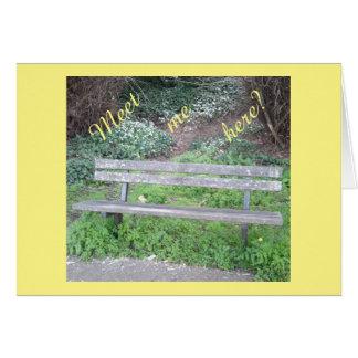 私にここに会って下さいか。 /森林ベンチ/Bluebellカード カード