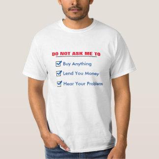 私にに尋ねないで下さい Tシャツ