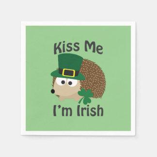 私によってがアイルランドのハリネズミである私に接吻して下さい スタンダードカクテルナプキン