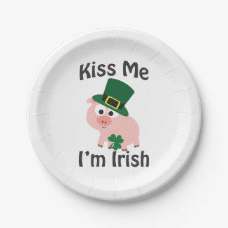 私によってがアイルランドのブタである私に接吻して下さい ペーパープレート