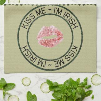 私によってがアイルランドの台所タオルである私に接吻して下さい キッチンタオル