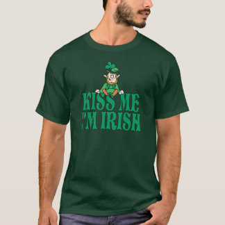 私によってがアイルランドの小さい小妖精である私に接吻して下さい Tシャツ