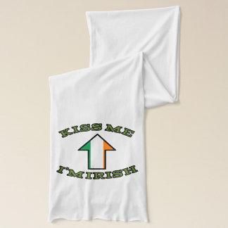 私によってがアイルランドの矢の旗である私に接吻して下さい スカーフ