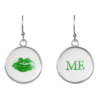 私によってがアイルランドの緑の口紅のキスである私に接吻して下さい イヤリング