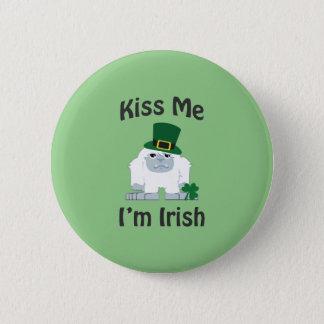私によってがアイルランドの雪男である私に接吻して下さい 5.7CM 丸型バッジ
