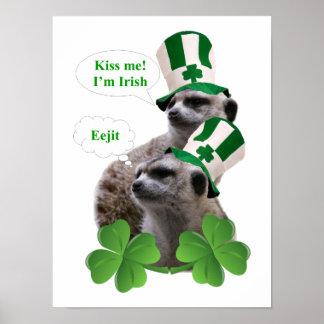 私によってがアイルランドのmeerkatのデザインである私に接吻して下さい ポスター