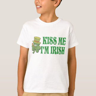 私によってがアイルランドのTシャツである私に接吻して下さい Tシャツ